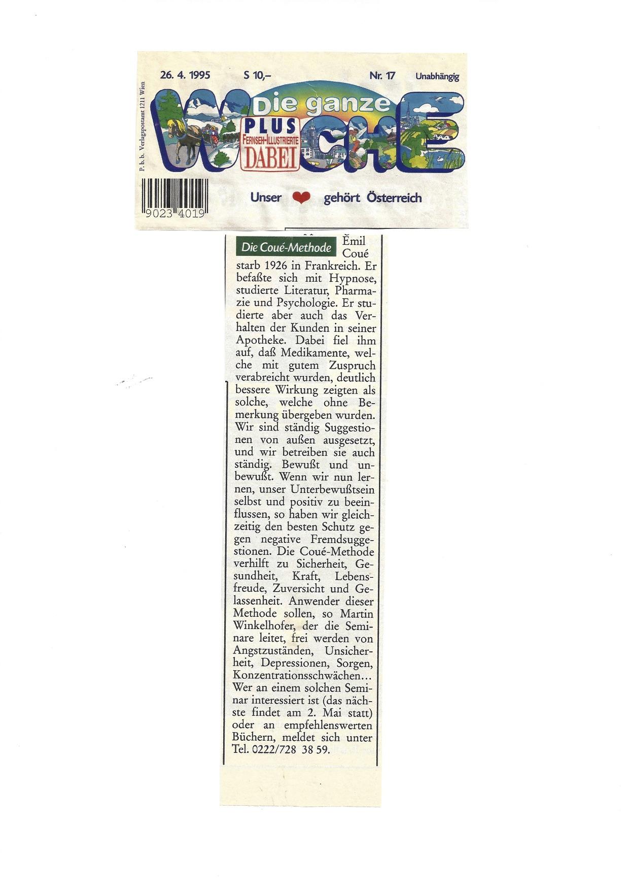Die ganze Woche Nr. 17, 26.4.1995