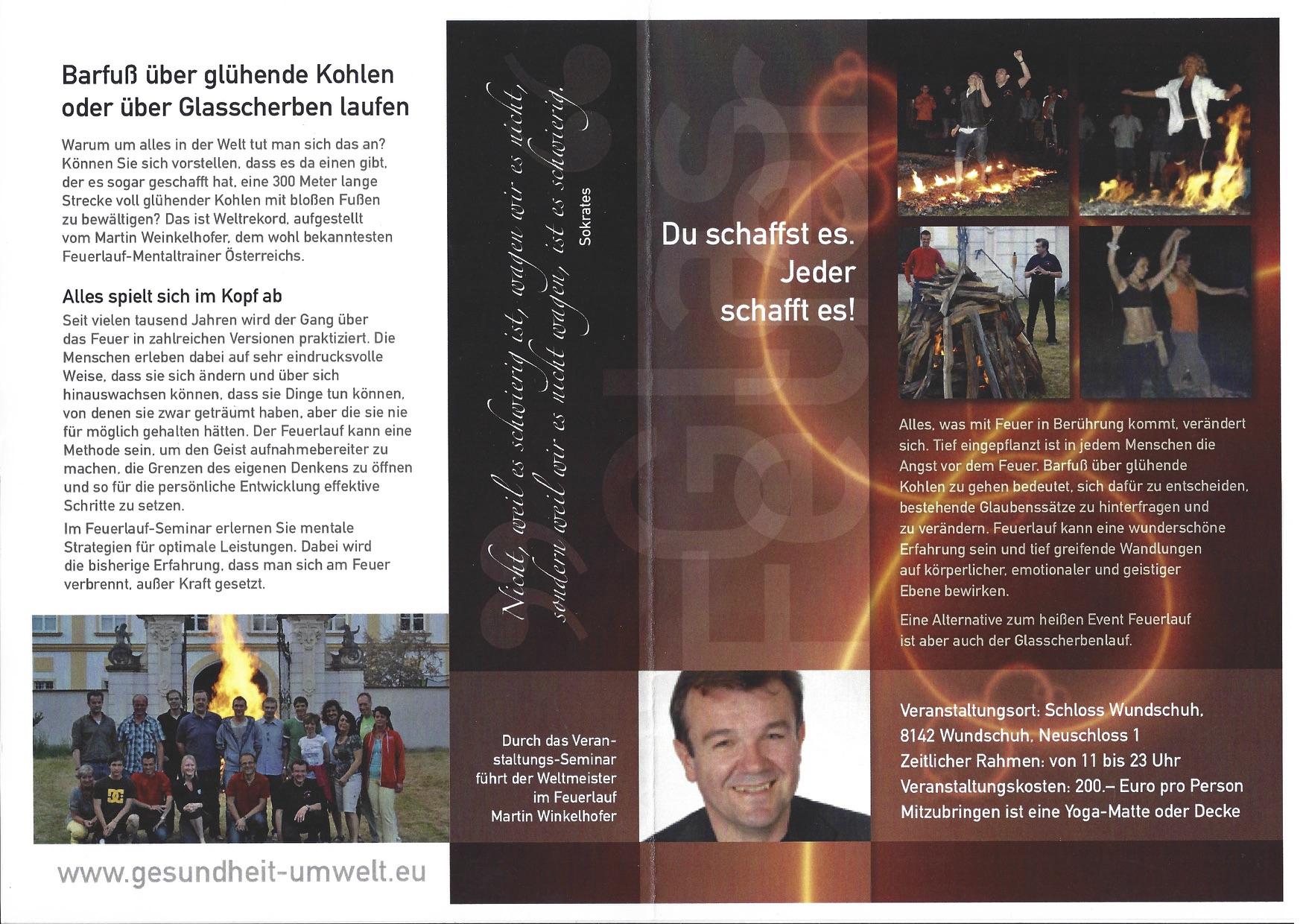 Teambuilding und Feuerlauf mit Martin Winkelhofer, feuerlauf-seminar.at