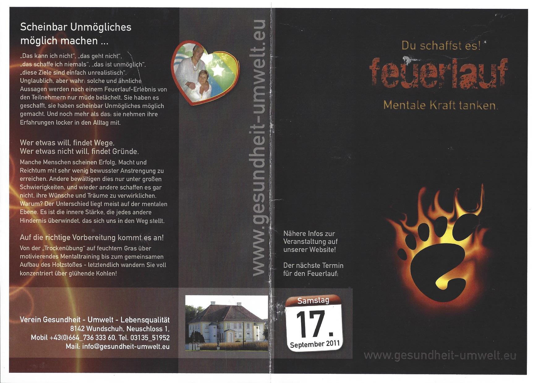 Barfuß über glühende Kohlen. Teambuilding und Feuerlauf mit Martin Winkelhofer, www.feuerlauf-seminar.at