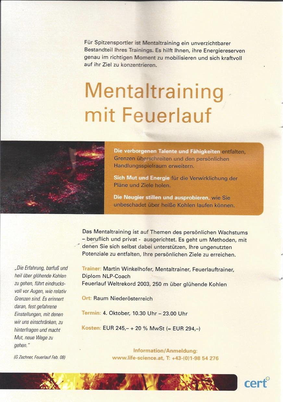 Feuerlauf mit Martin Winkelhofer