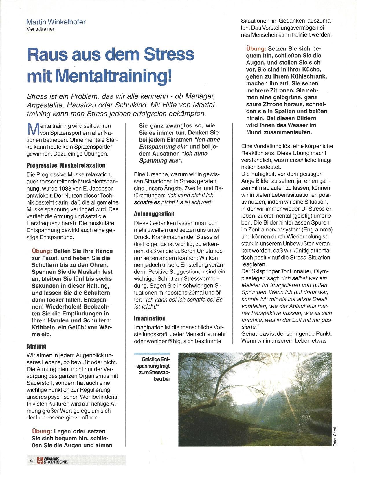 Mentaltraining mit Martin Winkelhofer