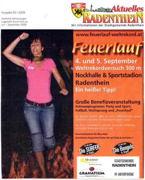 Feuerlauf-Weltrekord www.feuerlauf-seminar.at