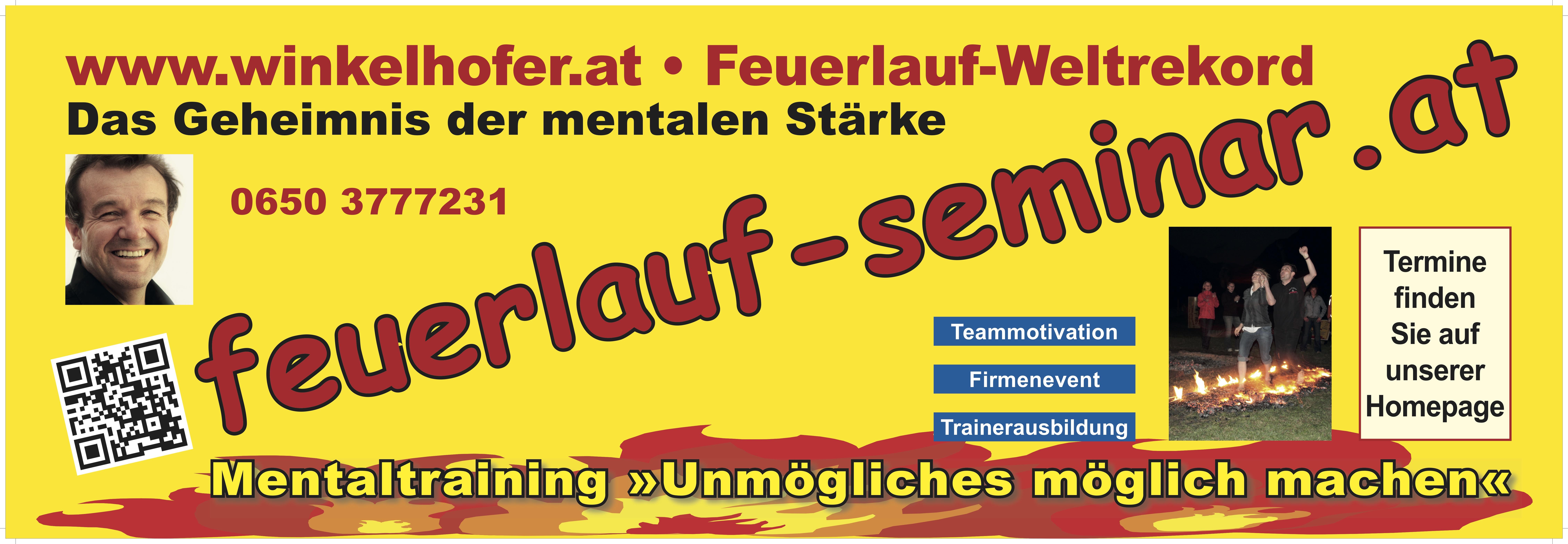 Feuerlauf - Seminar mit Martin Winkelhofer